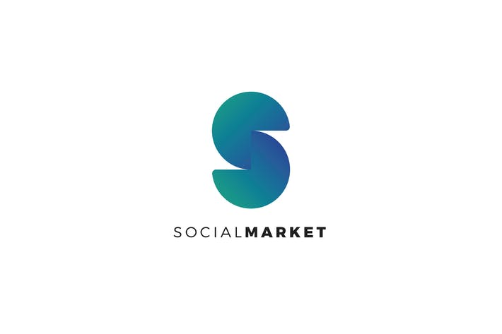 Cover Image For SocialMarket S Letter Logo Template