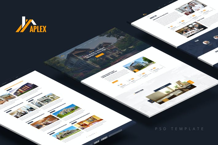 Thumbnail for Aplex — Apartment Complex PSD Template