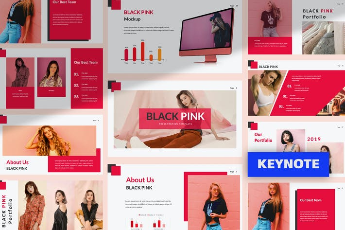 Thumbnail for Black Pink Creative Keynote