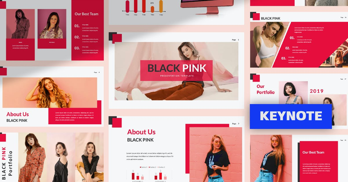 Download Black Pink Creative Keynote by templatehere