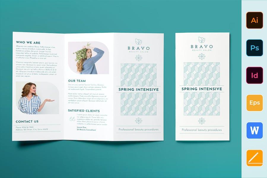 Beauty Salon Brochure Trifold