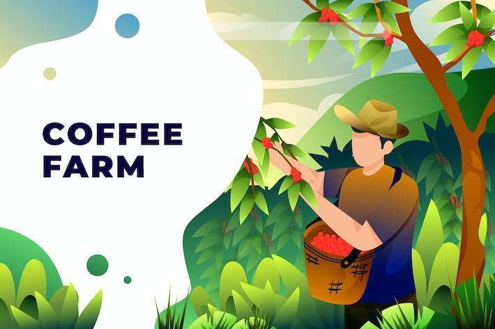 Kaffeefarm - Vektor-Illustration