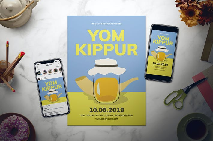 Thumbnail for Yom Kippur Flyer Set