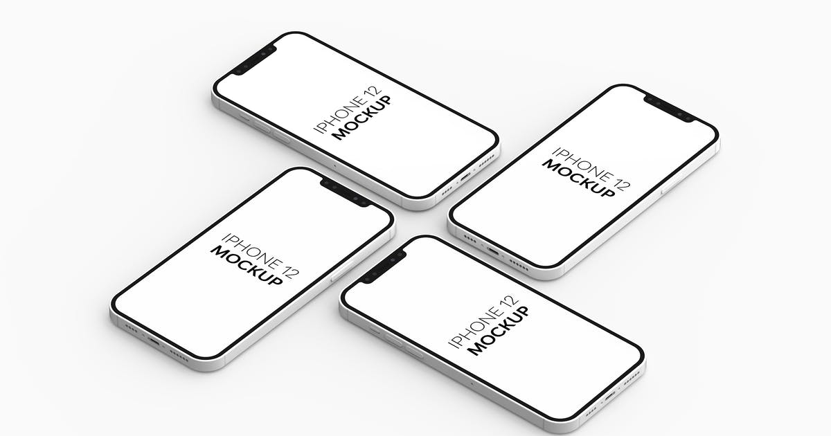 Download iPhone 12 Mockup by UnicDesign
