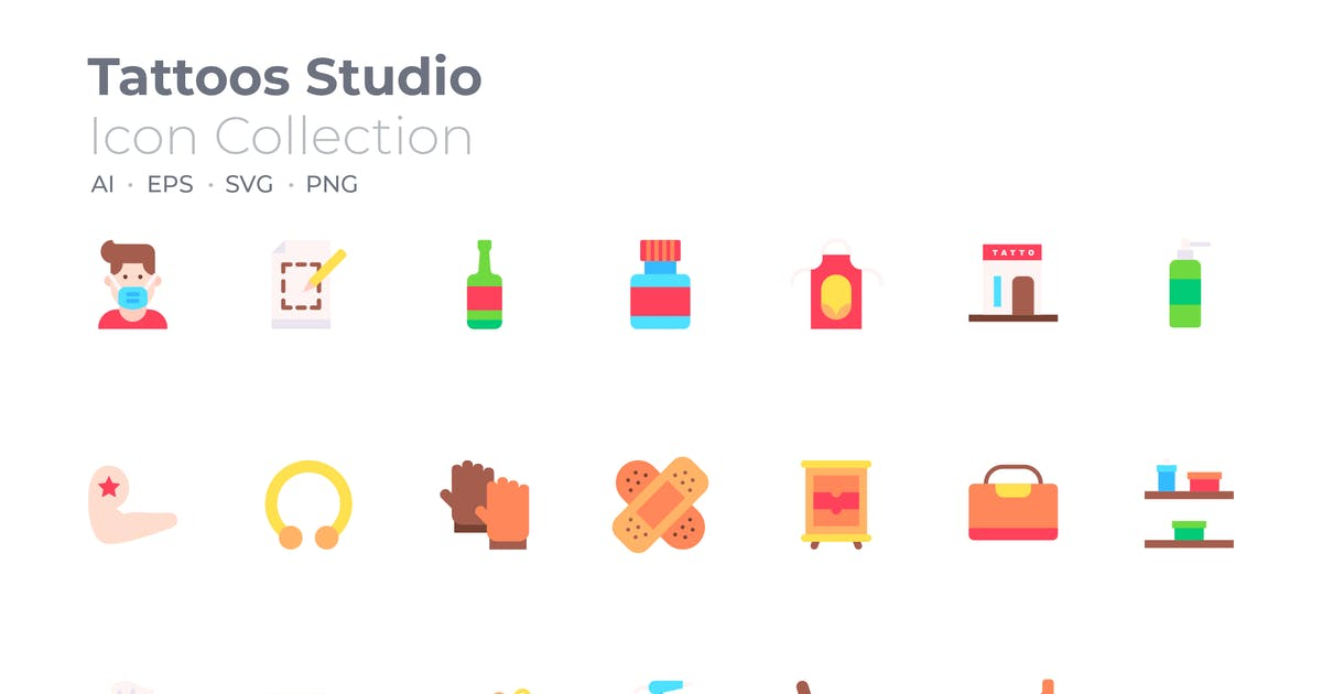 Download Tattoos Studio Color Icon by GoodWare_Std
