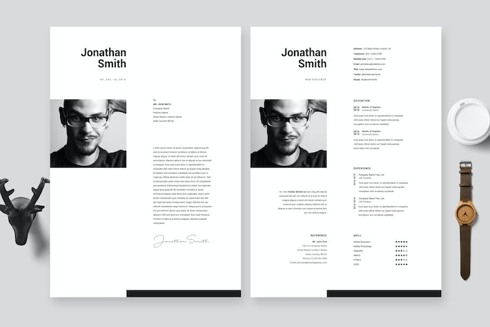 Thumbnail for Super Clean Minimal Resume / Cv Template 26