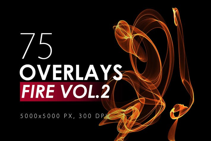 Thumbnail for 75 Abstract Fire Overlays Vol. 2