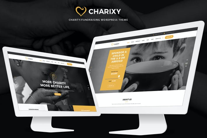 Thumbnail for Charixy - Charity/Fundraising PSD Template