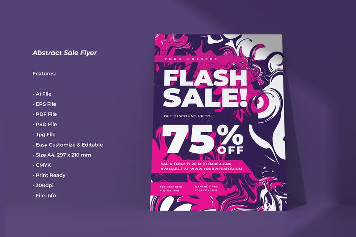 Cover Image For Abstract Sale Flyer