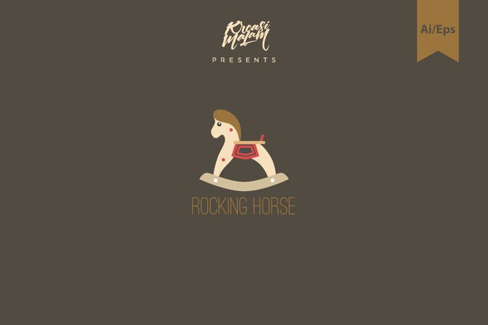 Thumbnail for Rocking Horse Logo Template