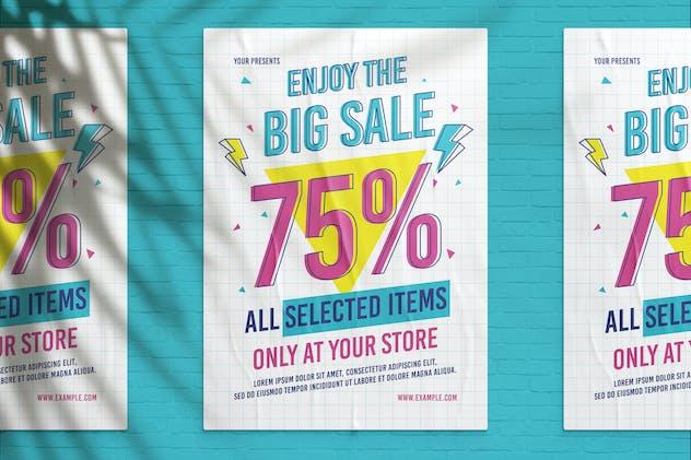 90's Big Sale Flyer