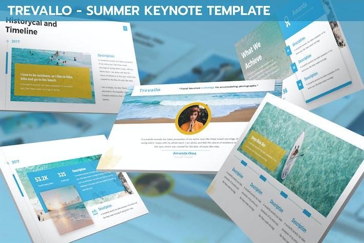 Thumbnail for Trevallo - Summer Keynote Template