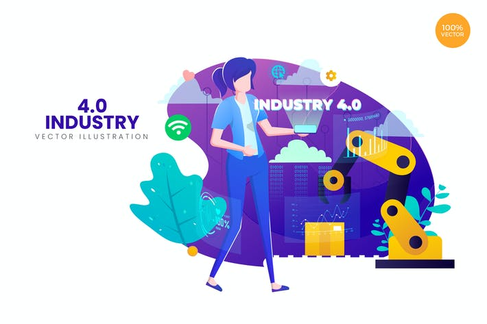 Thumbnail for Industry 4.0 Vector Illustration Concept 2