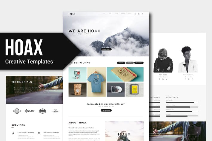 Thumbnail for HOAX - Creative Multipurpose Muse Templates