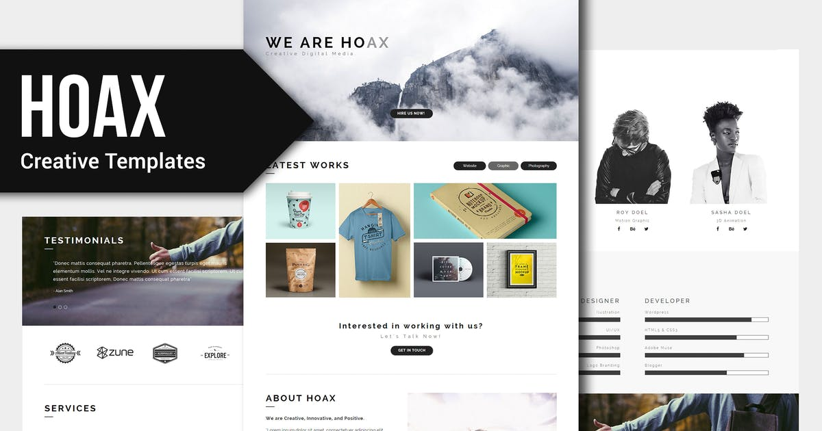 Download HOAX - Creative Multipurpose Muse Templates YR by Rometheme