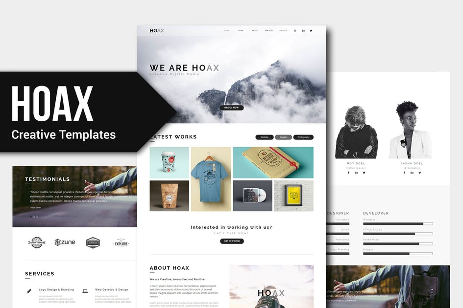 Download HOAX - Creative Multipurpose Muse Templates by Rometheme