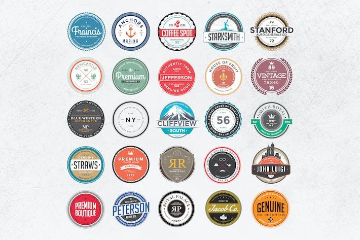 Thumbnail for Insignias y Logotipos de colores Retro