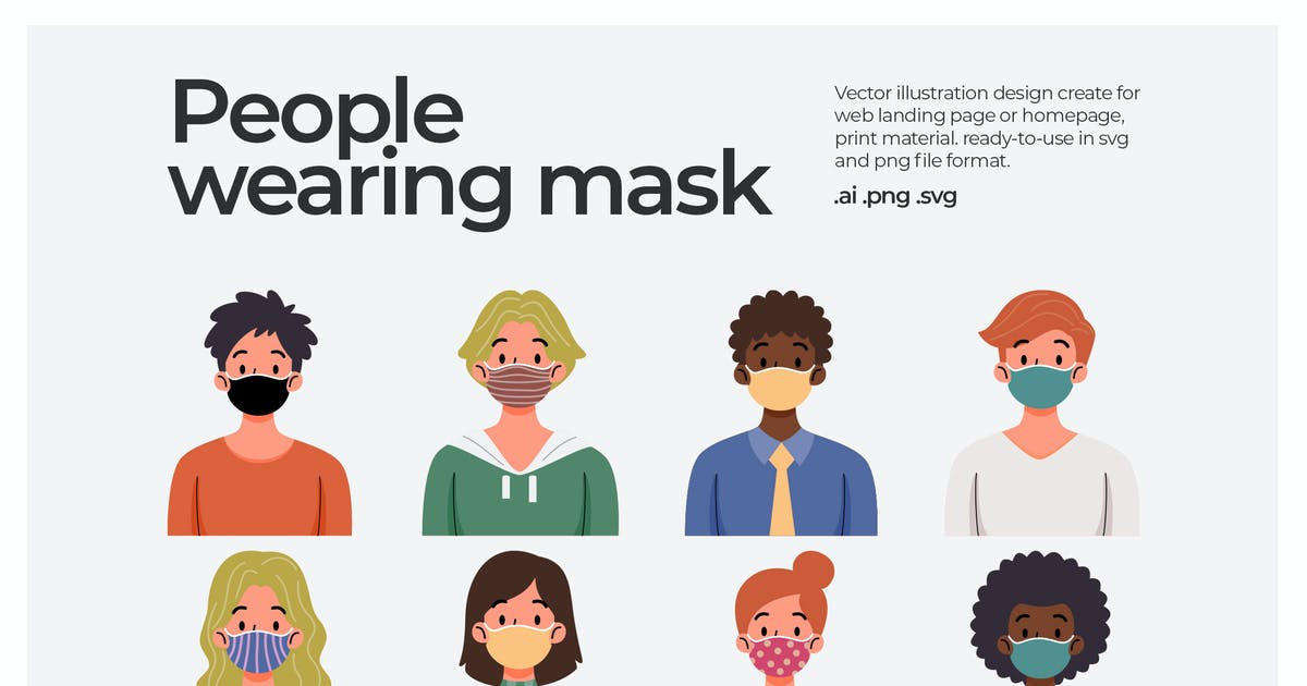 Download People-mask - illustration by Justicon
