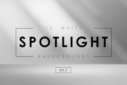 12 White Spotlight Backgrounds 2