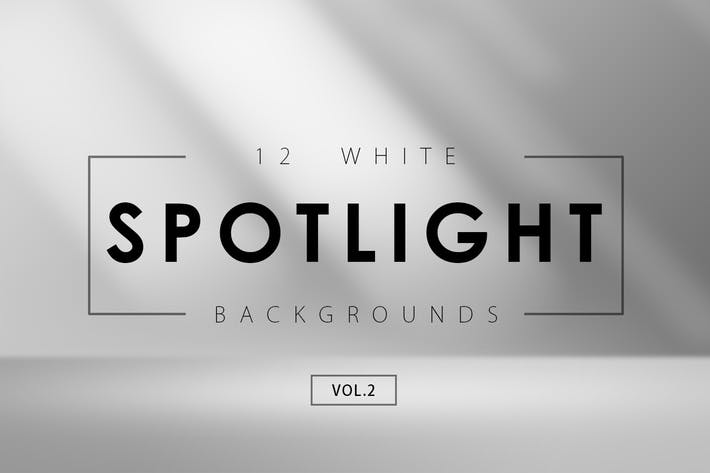 Thumbnail for 12 White Spotlight Backgrounds 2