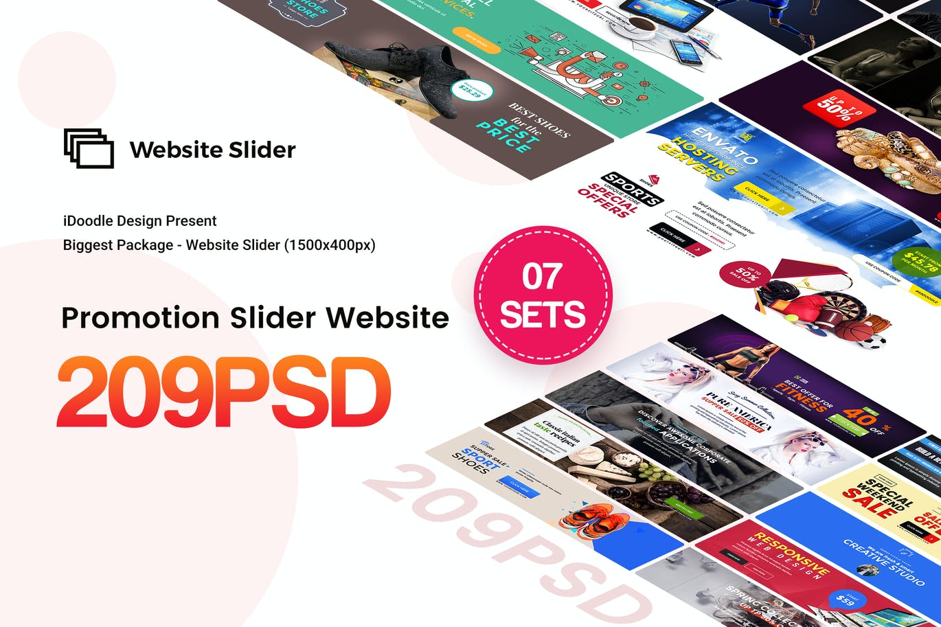 Promotion Sliders - 50 PSD by iDoodle on Envato Elements