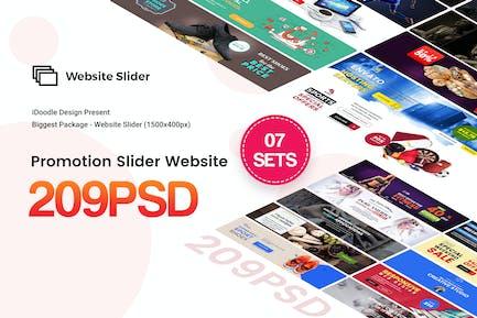Promotion Website Slider - 209PSD