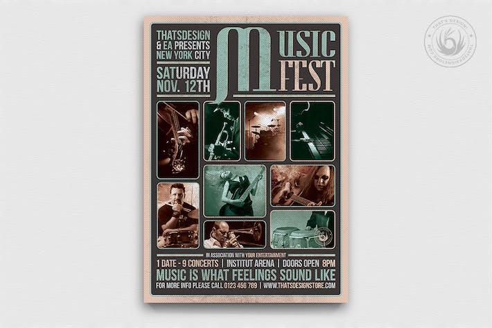 Thumbnail for Music Festival Flyer Template V2