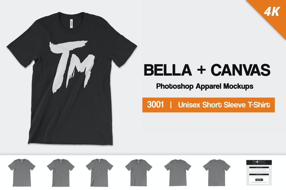 Download Bella Canvas 3001 Mockups by Photific