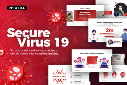 Secure Virus 19 Medical Powerpoint Template
