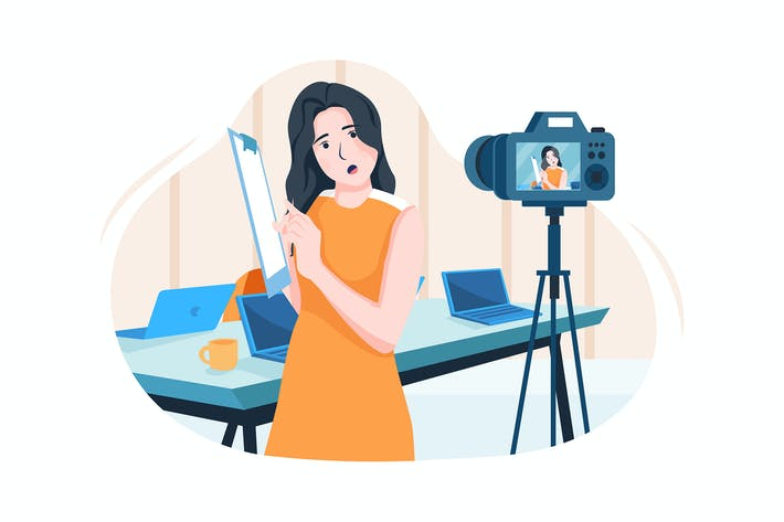 Thumbnail for Businesswoman coaching online in front of a camera