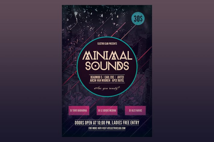Thumbnail for Minimal Sounds Flyer Poster