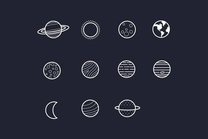 Thumbnail for 11 Solar System Planet Icons