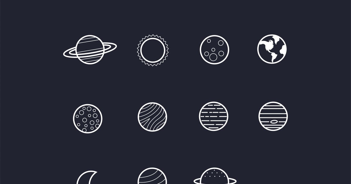 Download 11 Solar System Planet Icons by creativevip