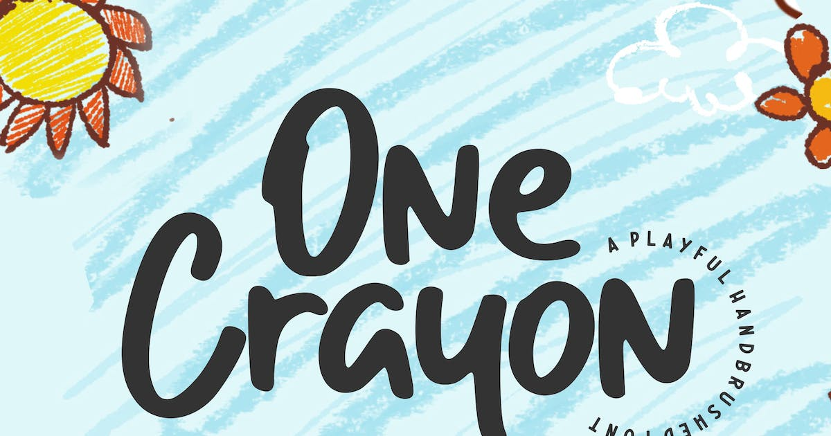 Download One Crayon Brush Font YH by GranzCreative