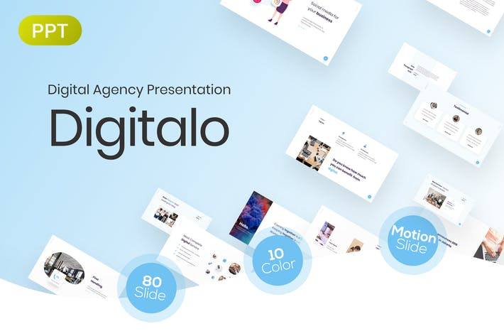Thumbnail for Digitalo Digital Agency Presentation Template