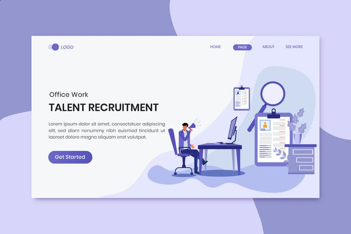 Thumbnail for Recruitment Office Work Landing Page