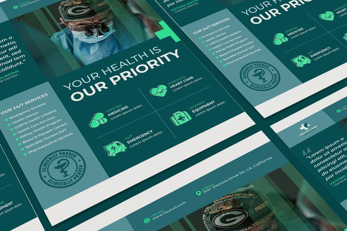 Thumbnail for Medical Poster PSD Template