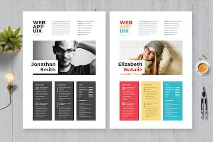 Creative Simple Resume / Cv Template 25