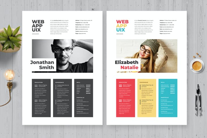 Creative Simple Resume / Cv Template 25