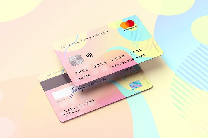 Plastic Card / Bank Card MockUp