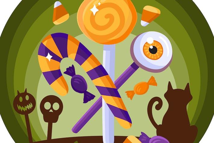 Thumbnail for Halloween Sweet  Food Illustration