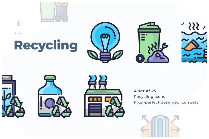 Thumbnail for 25 Recycling Icon set