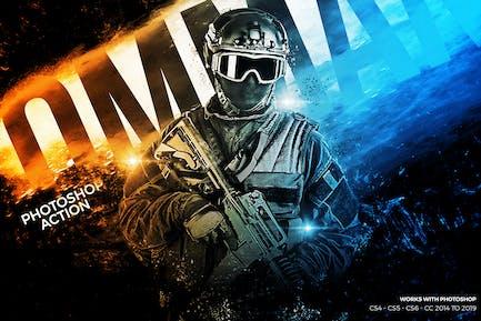 Commando Photoshop Action