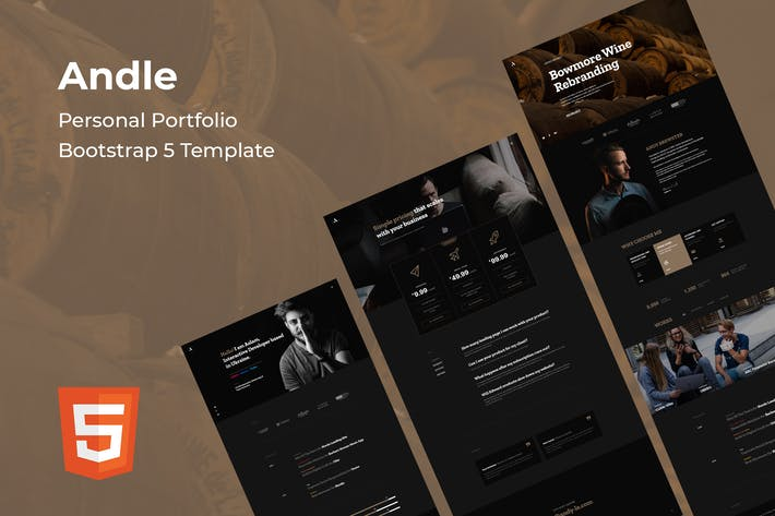 Andle - Personal Portfolio Bootstrap 5 Template