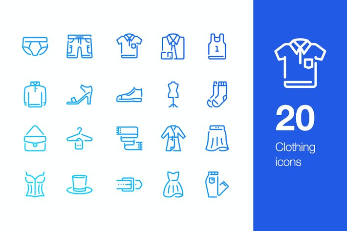 Thumbnail for 20 Clothing icons