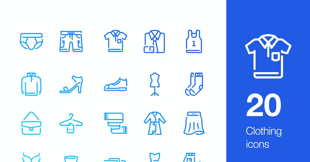 Download 20 Clothing icons by Unknow