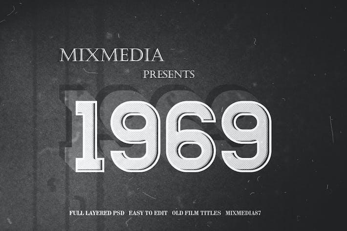 Old Film Title Fx