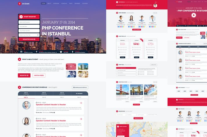 Cover Image For im Event - Event Conference Landing Page