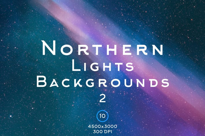 Thumbnail for Northern Lights Backgrounds 2