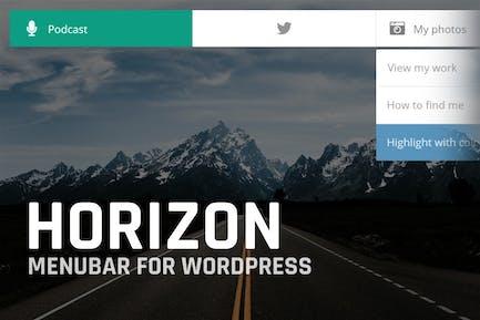 Horizon: Menubar for WordPress